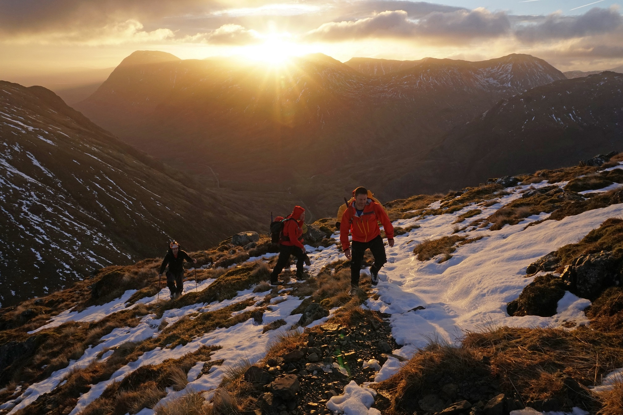 Hikers begin Aonach Eagach ridge ©tarquin_cooper